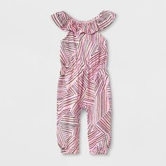 80c184ad33 Baby Girls  Sleeveless Romper with Stripes - Cat   Jack™ Pink