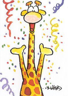 Leendert Jan Vis Olaf, Artist Birthday, Star Painting, Bengal Kitten, Rock Painting Ideas Easy, Card Sentiments, Birthday Pictures, Artist Trading Cards, Kids Cards