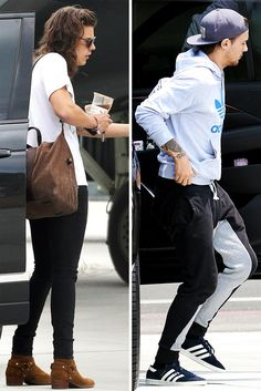 Harry and Louis at the airport in Los Angeles! 21/07/2015
