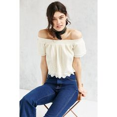 7a87a813694a99 Free shipping and returns on Topshop Poplin Bardot Top (Regular ...