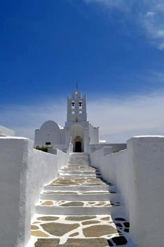 Stairway to the church, Sifnos, Cyclades island group in Greece Cruise Greek Islands, Greek Cruise, Oh The Places You'll Go, Places To Travel, Places To Visit, Albania, Vacation Destinations, Dream Vacations, Patras
