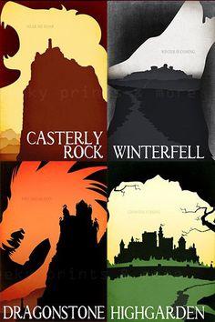 Game of Thrones Inspired Travel Poster by GeekyPrintsandMore $9.95 More @ groups.google.com & groups.yahoo.com/ Like us pls! www.facebook.com/ & www.facebook.com/
