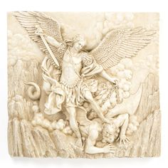 St. Michael the Archangel Sculptural Frieze Wall Décor