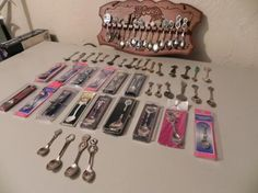 Spoon Collection. My great grandmother started the collection and I keep it going. :)