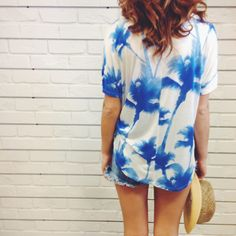 Palm Tree Crop Tee