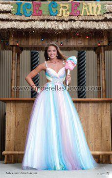 Spring 2012 |Page 073 |Prom |Designer Prom Dresses |Evening Dresses |Cinderella's Closet Collection |Pastel Multi