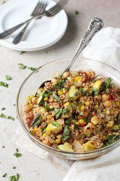 summer squash and corn quinoa. Filled with zucchini, squash, corn ...