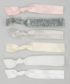 Pink & Cream Soft hair ties