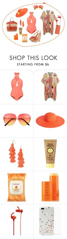 """""""Untitled #1218"""" by leaff88 ❤ liked on Polyvore featuring Lilliput & Felix, BLANK, Monsoon, BaubleBar, Sun Bum, Burt's Bees, Fresh, Sony, Kate Spade and The Case Factory"""