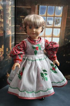Empress' Secret Closet ~  We recently bought this Victorian Style Christmas Dress and Pinafore recycled from a vintage organza tablecloth~~so sweet! Made by Andrea at ForAllTimeDesigns via Etsy