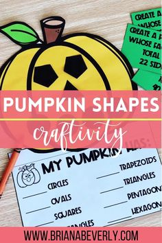 Geometry review for 1st-3rd grade students with a fun, hands-on halloween math activity for the elementary classroom. Great Halloween math activity for whole group teaching, small groups, math centers, or a math craft for a classroom Halloween party.