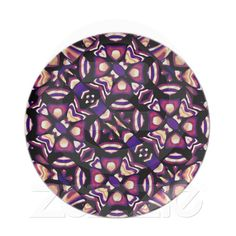 Artistic Tribal Plate from Zazzle.com    tribal , colorful , artistic , warm , cold , pattern , primitive , textil , decorative , strong , decoration , african , style
