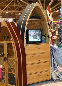 Cedar Boat Dresser/Entertainment Center Made in the USA Bean's Boats