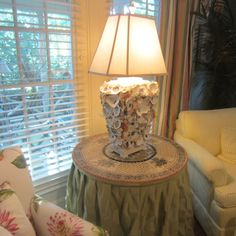 Oyster shell lamp