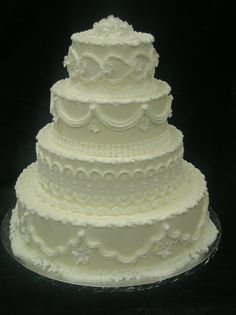Butercream Wedding Cake Design 125 : Strossner's Bakery, Catering, Flowers & Gifts in Greenville, SC