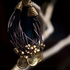 Athena bracelet (brass/leather)