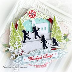 Artisant Beautiful Christmas Cards, Christmas Fun, Christmas Ornaments, Winter Fun, Scrapbook, Holiday Decor, Handmade, Tags, Hand Made