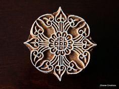 Hand Carved Indian Wood Textile Stamp Block Art by charancreations, $24.50