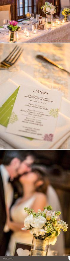 A Spring Stylish Montreal Real Wedding : Ashleigh & Keiran - April 21st 2012 - Auberge Saint-Gabriel - Photo by Juno Photo