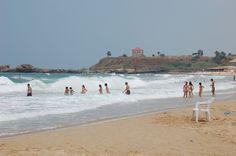 LEBANON, BYBLOS, SWIMMING AT THE EDDE SANDS BEACH CLUB & RESORT