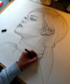 artdenoe: @rihannainfinity Work in progress … Rihanna by Art de Noé & instagram