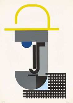"""Walter Dexel, """"Herr mit Strohhut"""", auch: """"Der Pflanzer"""", 1970"""