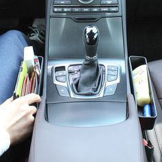 Console Side Pocket (2 PCS), Car Organizer, Car Seat Catcher, Fills the Gap Between the Seat