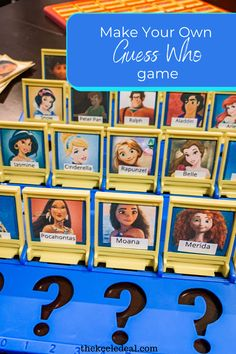 Make Your Own guess Who Game using Disney characters for a fun and unique game. Packing List For Disney, Disney Vacation Planning, Christmas Photos, Family Christmas, Make Your Own, Make It Yourself, How To Make, Science Activities For Kids, Disney World Tips And Tricks