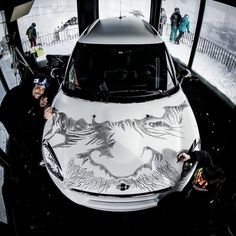 Creative Use of Face. MINI gets a makeover from the PirateArtCrew in Laax, Switzerland.