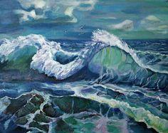 Купить Картина Море взволновано дышит - море живопись, море картина, море-море, море