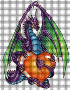 Dragon & Heart Crochet Pattern