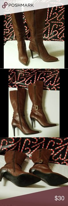 Nine West Boots size 7.5 Nine West Boots size 7.5  Brown Nine West Shoes Heeled Boots