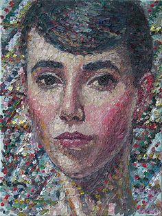 YVETTE COPPERSMITH - Self Portrait as a Mosaic, 2014
