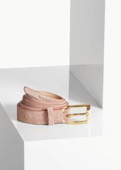 Paul Smith women's dusty pink suede thread through waist belt