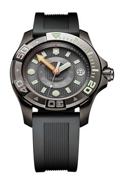 Victorinox Swiss Army® 'Dive Master' Round Rubber Strap Watch available at Nordstrom