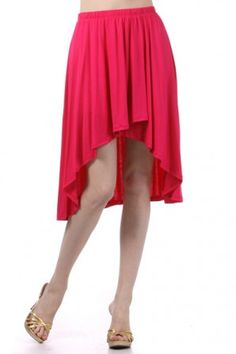 salediem.com has the summer boutique fashions for less.  Shipping Free. Solid high waist skirt with a hi-lo hem