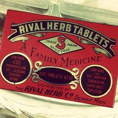 Vintage Medicine Tablets Tin Box