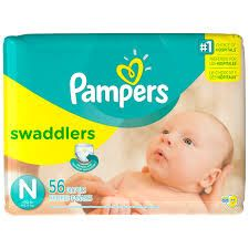 Pampers New Baby Couches Taille 2 Pack Essential 56 par paquet