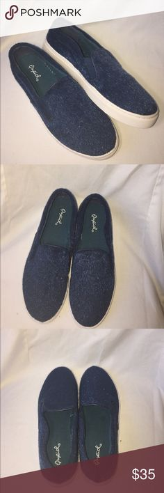 "Fuzzy Blue Loafer Shoes Super Funky Blue loafer style shoes, very soft faux ""fur"" Qupid Shoes Flats & Loafers"