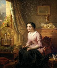 """The Canary's Song"" by Josephus Laurentius Dyckmans (1866)"