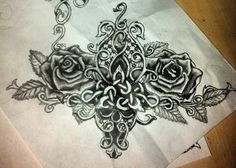 I love this rose tattoo so much. Want to get it on my lower back