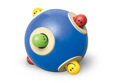 Wonderworld Peek-a-Boo Ball  This ball might look simple, but it can provide entertainment for the longest time and Avery is proof of it. As you turn the ball around, the little friendly faces play peek-a-boo from the holes in the ball. This is a fun toy that baby can roll around and crawl after or that you can roll back and forth with your baby. The toy is made with safe, non-toxic colors. And for babies like Avery who love to put everything in their mouth, the ball is saliva resistant. Get…