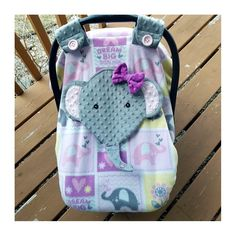 Girls Fitted Elephant Carseat Canopy With Peek-A-boo Opening Fleece, Orchard Minky, by lindasnd on Etsy Baby Carrier Cover, Peek A Boos, Canopy, Baby Car Seats, Baby Gifts, Baby Shoes, Elephant, Girls, Etsy