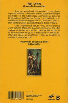 Les Intégrales du Masque - Ruth Rendell - Volume 3 - Verso - Septembre 1994
