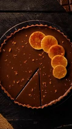 easy recipe with Eggs adding. Chocolate Cake with orange Tart Chocolate Pie and orange tart. Fun Baking Recipes, Tart Recipes, Easy Cake Recipes, Dessert Recipes, Cakes That Look Like Food, Love Food, Big Cakes, Food Cakes, Simply Recipes