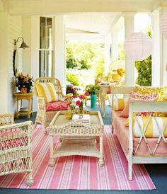 farbenfrohe balkon ideen design pastellfarben