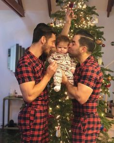Christmas is made for loved ones, whoever they are, so get cosy and take a look at the love shared by gay couples and chosen families before a festive tree Cute Gay Couples, Couples In Love, Tumblr Gay, Gay Christmas, Family Christmas, Lgbt Love, Same Love, Gay Pride, Hugs