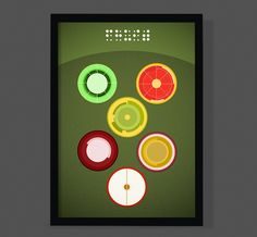 """A Graphic version of """"FRUIT"""". Size is A3 and Printed on Enhanced Matte 192 gram. Limited Edition of 50.    *EASTER EGG* -FREE SHIPPING    Sold without frame and packed and shipped in a cardboard tube to avoid damage during shipment. 