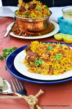 GOSHT AKHNI PULAO –(LAMB BOUILLON PILAF) Akhni or Yakhni is the bouillon or stock prepared by boiling the mutton/chicken/beef with seasonings and water. Akhni pulav is basically a Kashmiri dish in which rice is simmered with mutton stock and yoghurt. I am not naming it Kashmiri because I have added few more grounded spices over … … Continue reading →