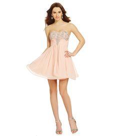 Sequin Hearts Sweetheart Embellished-Bust Dress | Dillards.com